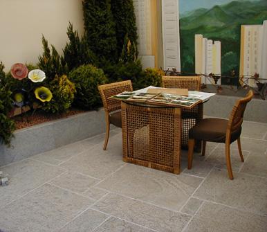 Soapstone Tile Patio
