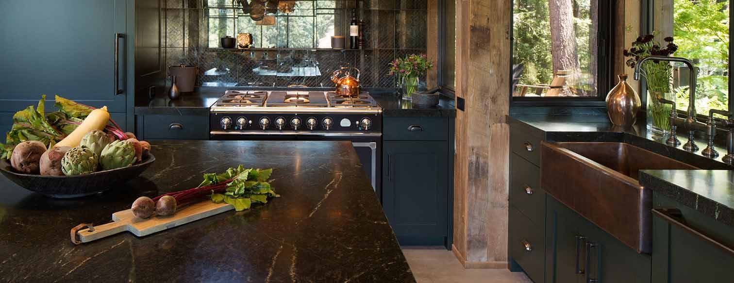 rustic soapstone kitchen